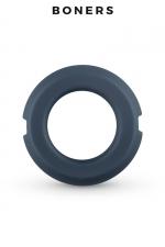 Anneau pénien silicone et acier - Boners : Cockring en silicone avec deux parties en acier à l'intérieur qui forment un anneau suffisamment souple et confortable.