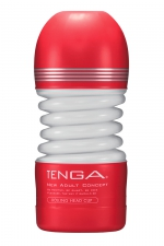 Masturbateur Rolling Head Cup - Tenga : Avec sa tête pivotante, ce masturbateur flexible offre une stimulation du gland à 360° et un serrage puissant.