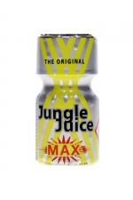 Poppers Jungle Juice Max 10ml : Petit flacon de Jungle Juice Max Original, à base d'Amyle, offrant des sensations intenses.